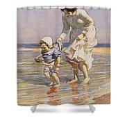 Paddling Shower Curtain by William Kay Blacklock