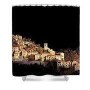Paesaggio Scuro Shower Curtain by Guido Borelli