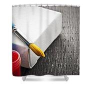 Paintbrush On Canvas Shower Curtain by Elena Elisseeva