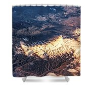 Painted Earth Iv Shower Curtain by Jenny Rainbow