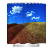 Painted Hills Blue Sky 1 Shower Curtain by Bob Christopher