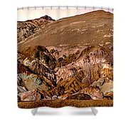 Painting Of Artists Pallete Death Valley Shower Curtain by Bob and Nadine Johnston