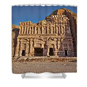 Palace Tombin Nabataean Ancient Town Petra Shower Curtain by Juergen Ritterbach