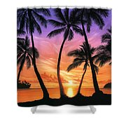 Palm Beach Sundown Shower Curtain by Andrew Farley