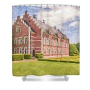 Palsjo Slott Painting Shower Curtain by Antony McAulay