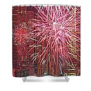 Panama Fireworks Shower Curtain by Bob Hislop