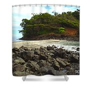 Panama Island Shower Curtain by Carey Chen