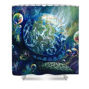 Pangaea Shower Curtain by Kd Neeley