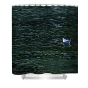 Paper Boat Shower Curtain by Joana Kruse