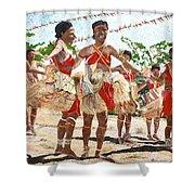 Papua New Guinea Cultural Show Shower Curtain by Carol Mallillin-Tsiatsios