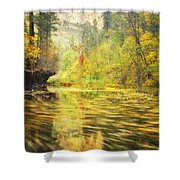 Parade Of Autumn Shower Curtain by Peter Coskun