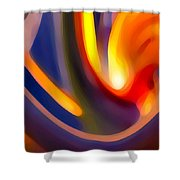 Paradise Creation Shower Curtain by Amy Vangsgard