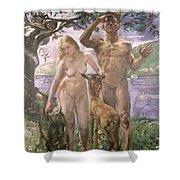 Paradise Shower Curtain by Lovis Corinth