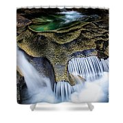 Paradise Rocks Shower Curtain by Inge Johnsson