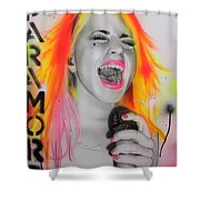 'paramore' Shower Curtain by Christian Chapman