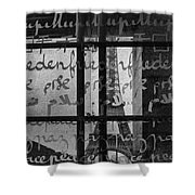 Paris Peace Wall Shower Curtain by Georgia Fowler