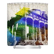 Parthenon Shower Curtain by Aged Pixel