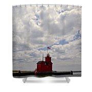 Partly Cloudy Shower Curtain by Michelle Calkins