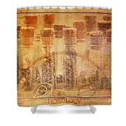 Parts Of Time Shower Curtain by Fran Riley