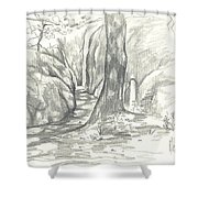 Passageway at Elephant Rocks Shower Curtain by Kip DeVore