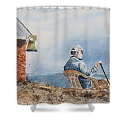 Passing Time Shower Curtain by Monte Toon