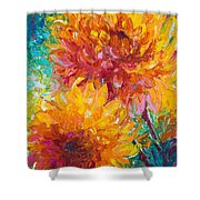 Passion Shower Curtain by Talya Johnson