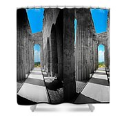 Past Present 2 Shower Curtain by Madeline Ellis