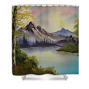 Pastel Skies Shower Curtain by C Steele