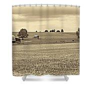 Pastoral Pennsylvania Sepia Shower Curtain by Steve Harrington