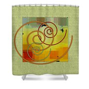Patchwork I Shower Curtain by Ben and Raisa Gertsberg