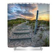 Path Over The Dunes Shower Curtain by Sebastian Musial