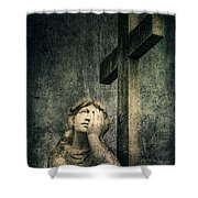 Patience In Pain Shower Curtain by Andrew Paranavitana