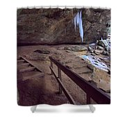 Pato To Ash Cave In Winter Shower Curtain by Dan Sproul