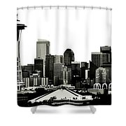 Patriotic Seattle Shower Curtain by Benjamin Yeager