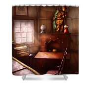 Pawn - In The Pawn Shop Shower Curtain by Mike Savad