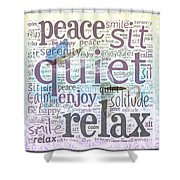 Peace And Quiet 2 Shower Curtain by Terry Fleckney