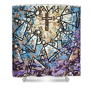 Peace Shower Curtain by Anthony Falbo