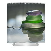 Peace Shower Curtain by Barbara McMahon