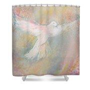 Peace Dove Shower Curtain by Anne Cameron Cutri