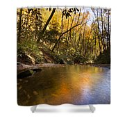 Peace Like A River Shower Curtain by Debra and Dave Vanderlaan