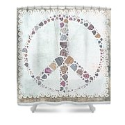 Peace Symbol Design - s76at02 Shower Curtain by Variance Collections