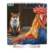 Peaceful Coexistence Shower Curtain by James W Johnson