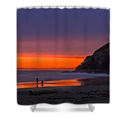 Peaceful Evening Shower Curtain by Robert Bales