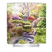 Peaceful Garden Shower Curtain by Irina Sztukowski