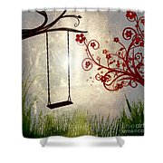 Peaceful Morning Glow Shower Curtain by Kaye Menner