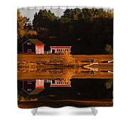 Peaceful Morning Shower Curtain by Steven Reed