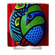 Peacock Egg II  Shower Curtain by John  Nolan