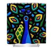 Peacock IIi Shower Curtain by John  Nolan