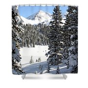 Peak Peek Shower Curtain by Eric Glaser