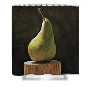 Pear Shower Curtain by Joanne Grant